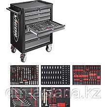Тележка инструментальная с 7-ми выдвижными ящиками VIGOR 1000 с набором инструментов 344 предметов