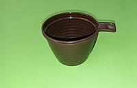Чашка кофейная 180 мл коричневая (100шт)