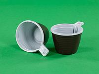 Чашка кофейная 180 мл бело-коричневая (100шт)