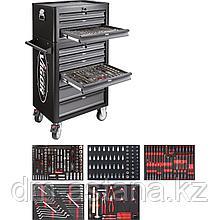 Тележка инструментальная с 10-ю выдвижными ящиками VIGOR 1000 с набором инструментов 344 предметов