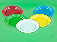 Тарелка d 205 мм цветная (100шт)