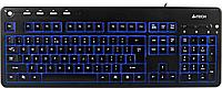 Клавиатура A4tech KD-800L USB, BLUE LED-подсветка клавиш, 10 мультимедийных клавиш