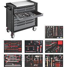 Тележка инструментальная VIGOR 1000 XL с 8-ми ящиками с базовым комплектом инструментов для VW и AUDI