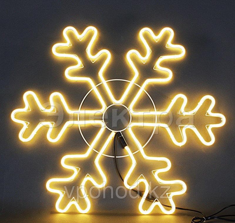 Желтая светодиодная LED снежинка 70 см