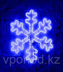Светодиодная LED снежинка 70 см разные цвета