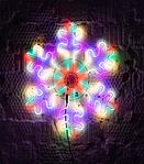 Светодиодная LED снежинка 70 см разные цвета, фото 2