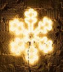Светодиодная LED снежинка 70 см разные цвета, фото 4