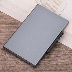 Серый Бокс для кредитных карт - кардхолдер. RFID Protected.