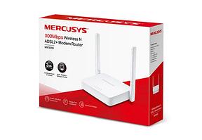 Модем беспроводной ADSL2+ 300M Mercusys MW300D <300M Wireless N ADSL2+ Modem Router, 3 порта LAN 10/100 Мбит/с