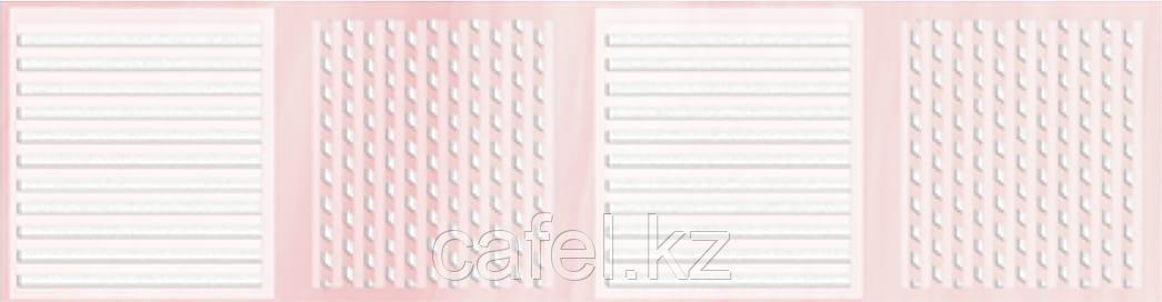 Кафель | Плитка настенная 25х35 Агата | Agata розовый бордюр В
