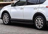 """Порог-площадка """"Black"""" + комплект крепежа, RIVAL, Toyota Rav 4 2013-2019, фото 3"""