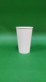 Бумажный стакан белый однослойный, 450 мл (50шт)