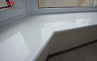 Подоконник белый акриловый искусственный камень