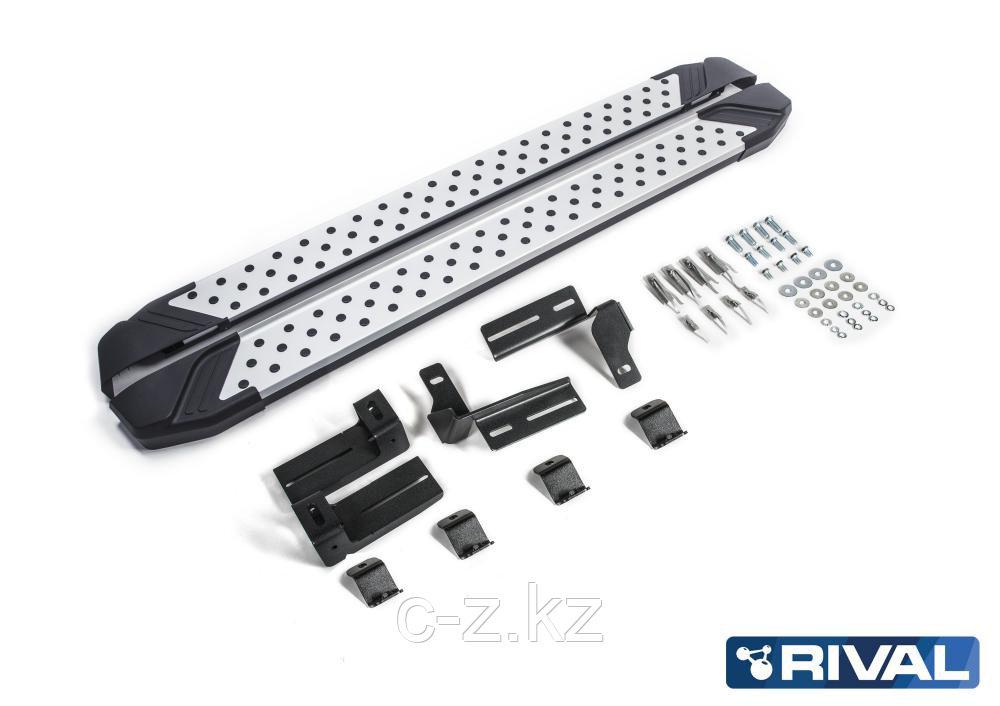 """Порог-площадка """"Bmw-Style"""" + комплект крепежа, RIVAL, Toyota Rav 4 2013-2019"""