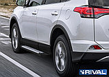 """Порог-площадка """"Bmw-Style"""" + комплект крепежа, RIVAL, Toyota Rav 4 2013-2019, фото 2"""