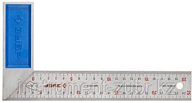Усиленный столярный угольник ЗУБР Профессионал 250 мм с нержавеющим полотном