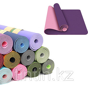 Коврик для йоги двусторонний 183х61х0,6см