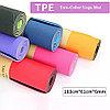 Коврик для йоги двусторонний 183х61х0,6см, фото 4