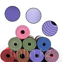 Коврик для йоги двусторонний 183х61х0,6см, фото 3