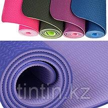 Коврик для йоги двусторонний 183х61х0,6см, фото 2