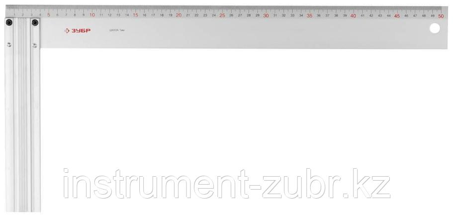 """Угольник ЗУБР """"ЭКСПЕРТ"""" столярный, жесткое профилированное полотно, усиленная алюминиевая рукоятка, 500мм, фото 2"""
