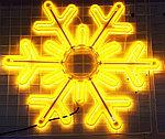 Светодиодная LED снежинка 76 см, фото 2