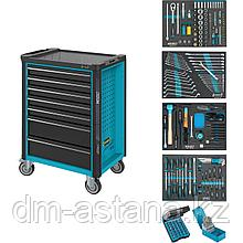 Тележка инструментальная 7-ю выдвижными ящиками с набором инструментов 220 пр. Hazet (Германия)