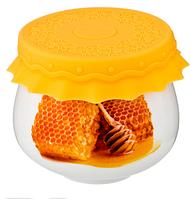 Баночка для меда/варенья с силиконовой крышкой 180 мл д=8 см в=7 см