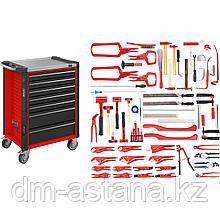 Тележка инструментальная с 7- ящиками для работы с алюминием кузовных деталей , 65пр. Hazet (Германия)