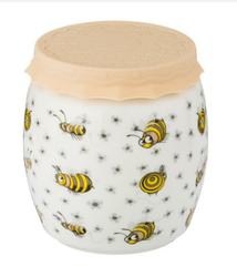 """Баночка для меда/варенья с силиконовой крышкой """"пчелы"""" 1000 мл 12,5*13,5 см"""