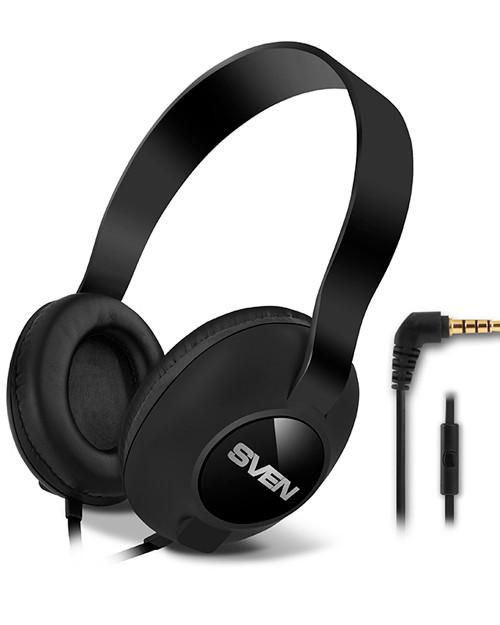 Мультимедийные стереонаушники с микрофоном SVEN AP-310M, черный