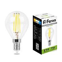 Лампа светодиодная Feron LB-52 Шарик E14 7W 4000K 25875