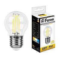Лампа светодиодная Feron LB-61 Шарик E27 5W 2700K 25581