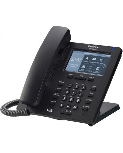 Panasonic KX-HDV330RUB Проводной SIP-телефон 4.3-дюйм,12 линий, 2 порта, PoE, громкая связь, память 500 ном