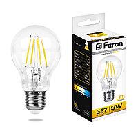 Лампа светодиодная Feron LB-63 Шар E27 9W 2700K 25631