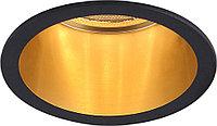 Светильник встраиваемый Feron DL6003 потолочный MR16 G5.3 черный, золото 29731