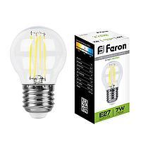 Лампа светодиодная Feron LB-52 Шарик E27 7W 4000K