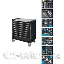 Тележка инструментальная 8-ю выдвижными ящиками с набором инструментов 243 пр. для VW / AUDI. Hazet (Германия)