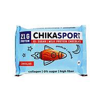 Протеиновый шоколад Chikalab - Chika Sport (Молочный c миндалём), 100 гр