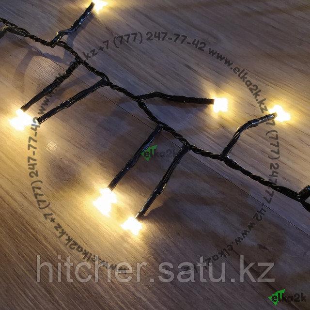 """Светодиодная гирлянда """"Мишура"""" -  13,5 метра, 500 лампочек, тёплый свет, 8 режимов свечения"""
