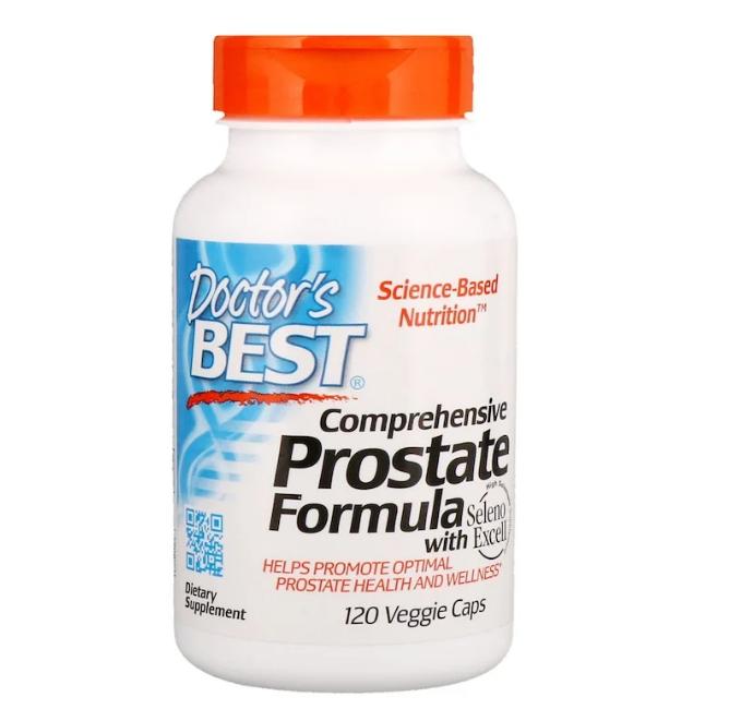 Doctor's Best, Комплексная формула здоровья простаты, 120 растительных капсул