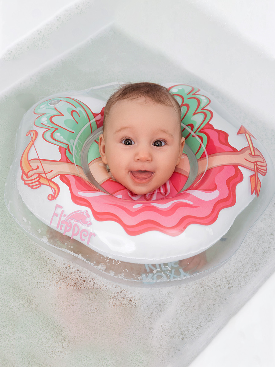 Надувной круг на шею для купания новорожденных Flipper Ангел - фото 3