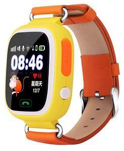 Умные часы детские Smart baby watch Q90 (Оранжевый)