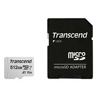 Карта памяти MicroSD 512GB Class 10 U3 A1 Transcend TS512GUSD300S-A