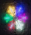 Светодиодная LED снежинка 76 см, фото 3