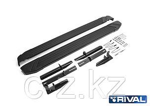 """Порог-площадка """"Black"""" F173ALB + комплект крепежа, RIVAL, Mitsubishi ASX 2010-2015; 2017-н.в., фото 3"""