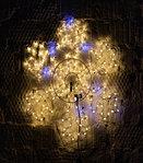 Желтая светодиодная LED снежинка 70 см, фото 2