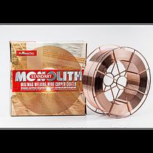 Проволока сварочная 0.8мм омедненная 18кг Monolith
