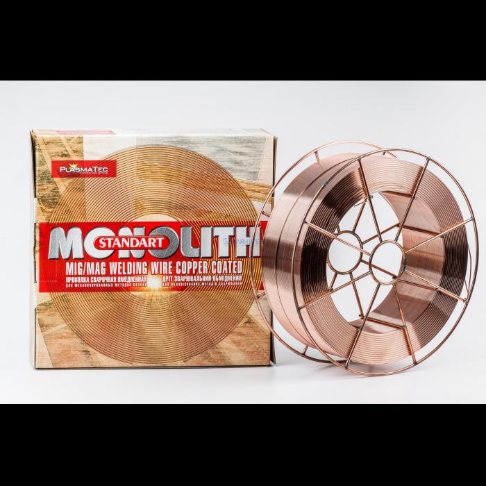 Проволока сварочная 1.0мм омедненная 18кг Monolith