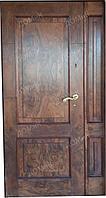 Дверь входная шпон орех